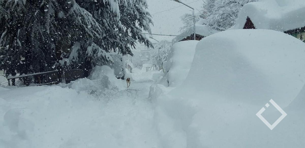ხულოს მაღალი ზონის სოფლებში თოვლის საფარმა მეტრს გადააჭარბა / ფოტორეპორტაჟი /