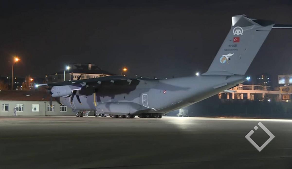 თვითმფრინავი, რომელსაცუხანიდანევაკუირებული საქართველოს მოქალაქეები გადმოყავდა ანკარას აეროპორტში დაეშვა